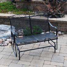 Backyard Creations Wrought Iron Glider From Menards 99 00