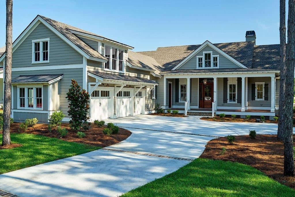 hampton lake model homes gray house exterior grey on lake house color schemes id=14495