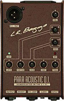 Lr Baggs Para Di Acoustic Guitar Preamp Di With 5 Band Eq Acoustic Guitar Baggs