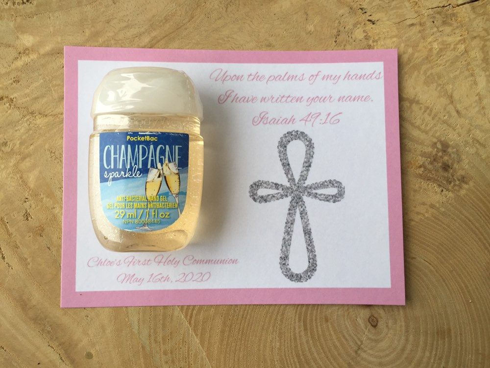 First holy communion personalized custom hand sanitizer