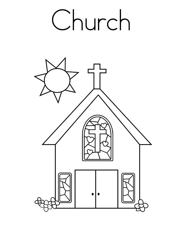Church Sunday Pray Coloring Pages Best Place To Color Sunday School Coloring Pages Coloring Pages For Kids Coloring Pages