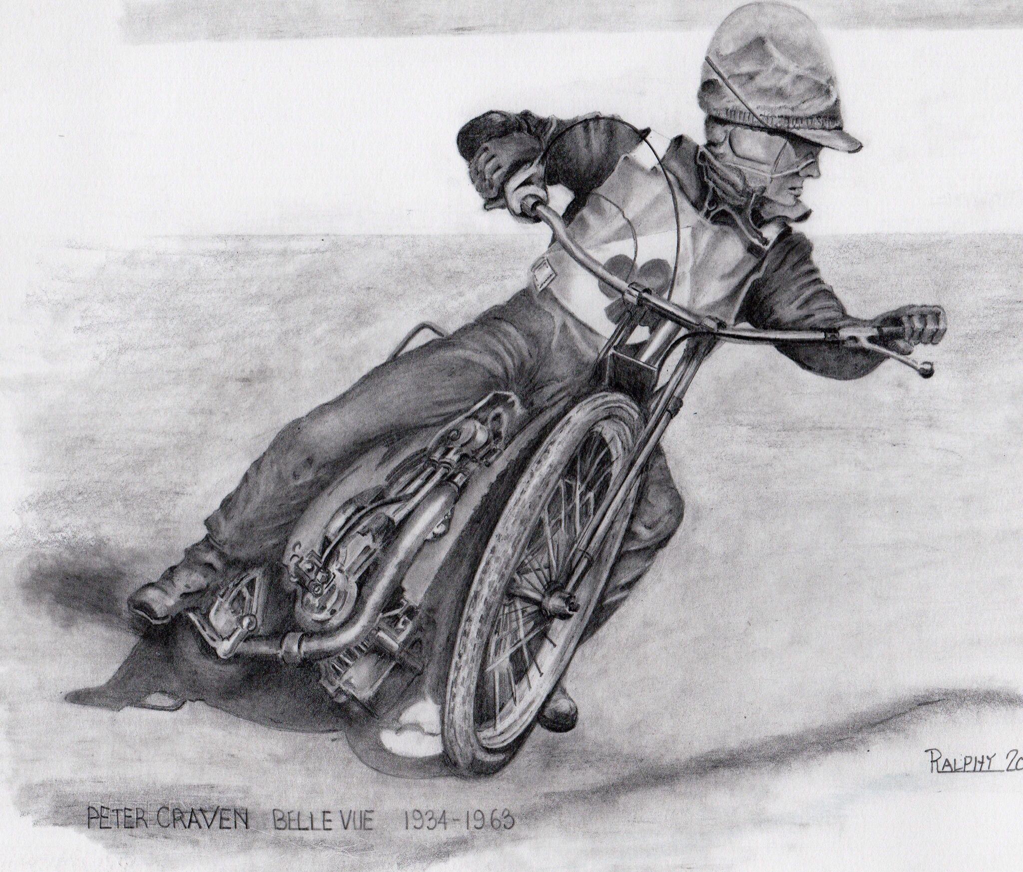 Speedway Art Peter Craven Drawn By Ralph Smith Pinterest