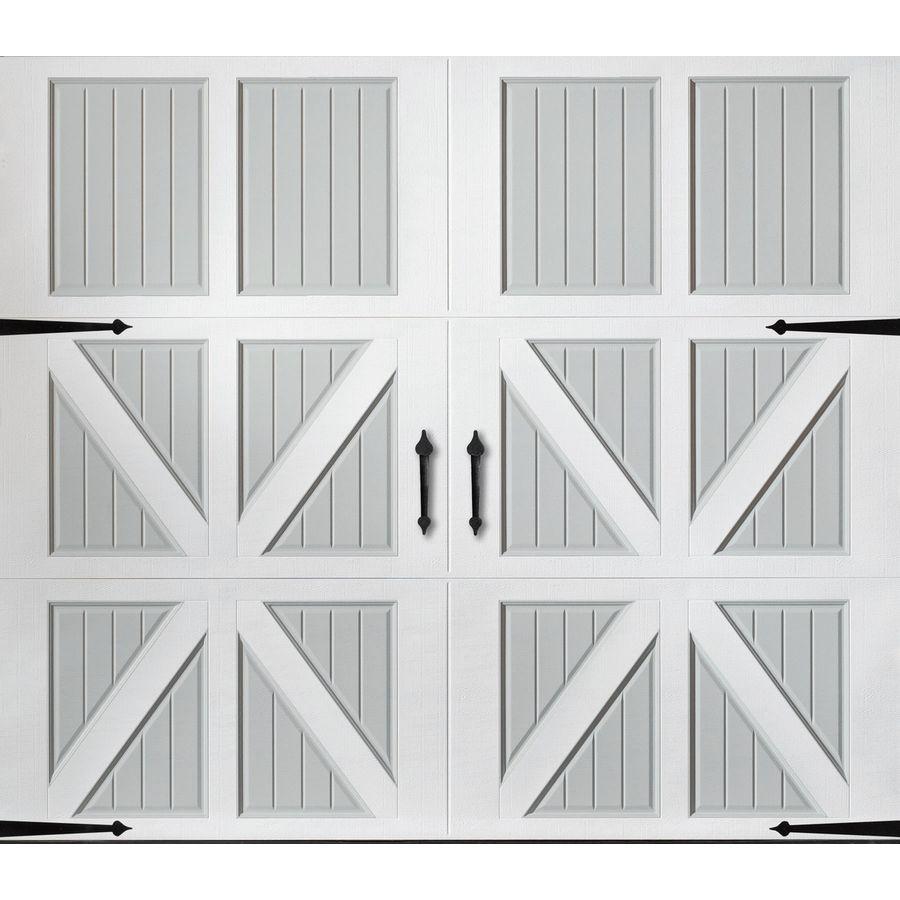 Pella 108 In X 84 In Insulated True White Gray Single Garage Door Lowes Com In 2020 Single Garage Door Garage Door Styles Garage Doors