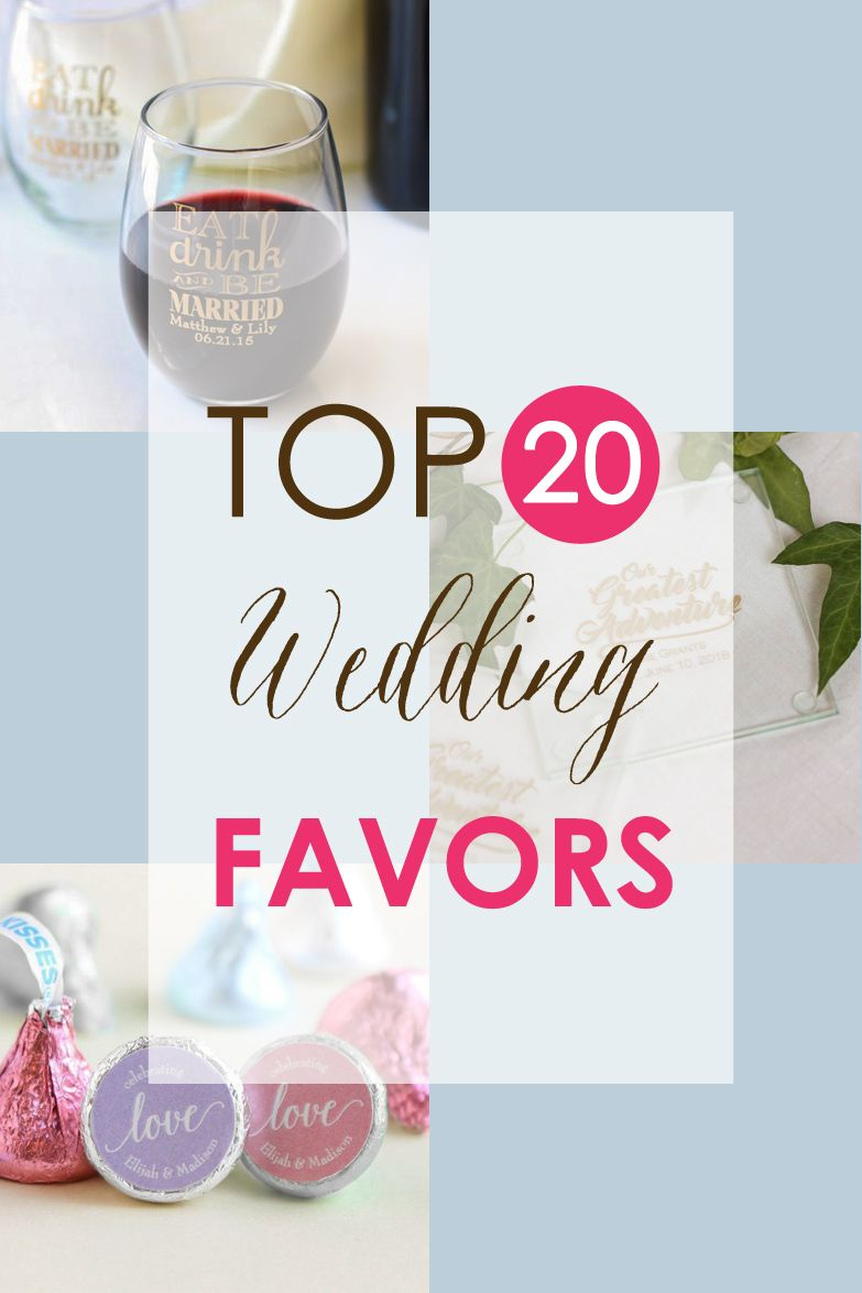 Our top 20 wedding favors are here! Get inspired and find the favor ...