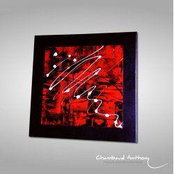 "Tableau rouge ""Dalan"" en 2020 | Art toile abstraite, Peinture abstraite et Toile abstraite"
