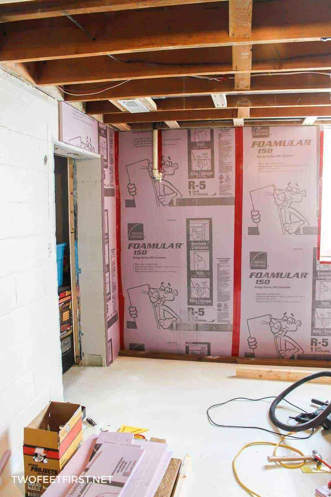 framing a basement wall against concrete is not as hard as you think rh pinterest com Attaching Wood to Concrete framing a basement half wall against concrete