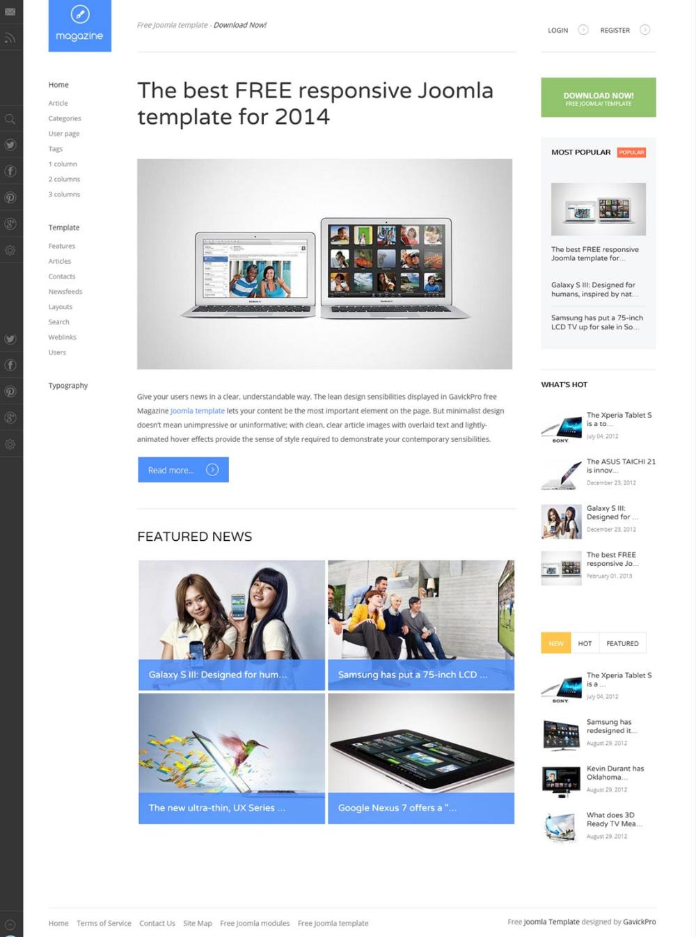 Magazine Wordpress Theme For Free Gavickpro Joomla Templates Free Joomla Templates Magazine Theme Wordpress
