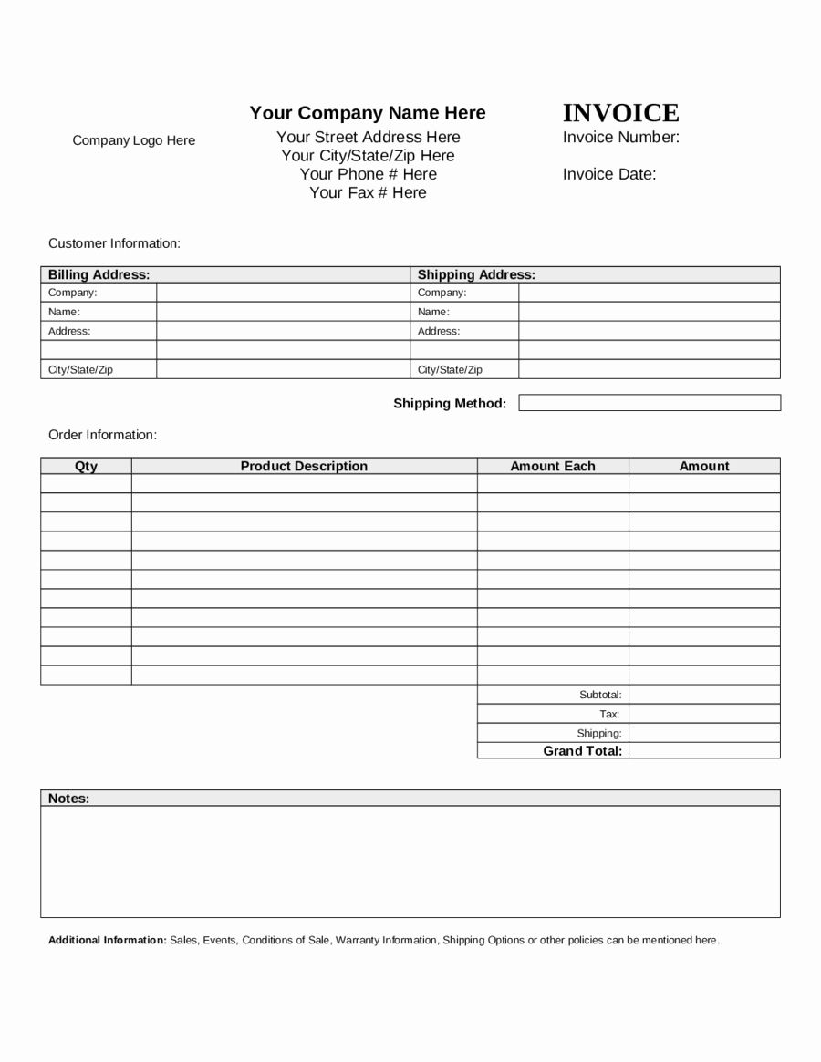 Hotel Pro forma Template Lovely Pro forma Templates