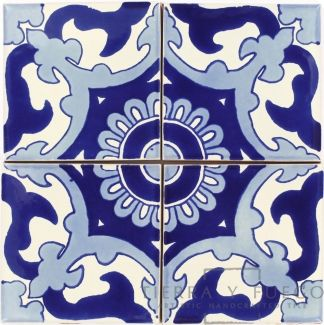 Blue Capri Talavera Mexican Tile Mexican Tile Handcrafted Ceramic Tile Handcrafted Tile