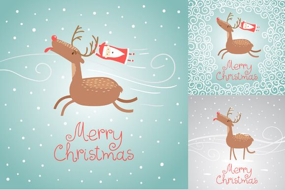 Check out Merry Christmas greeting cards by whynot on Creative