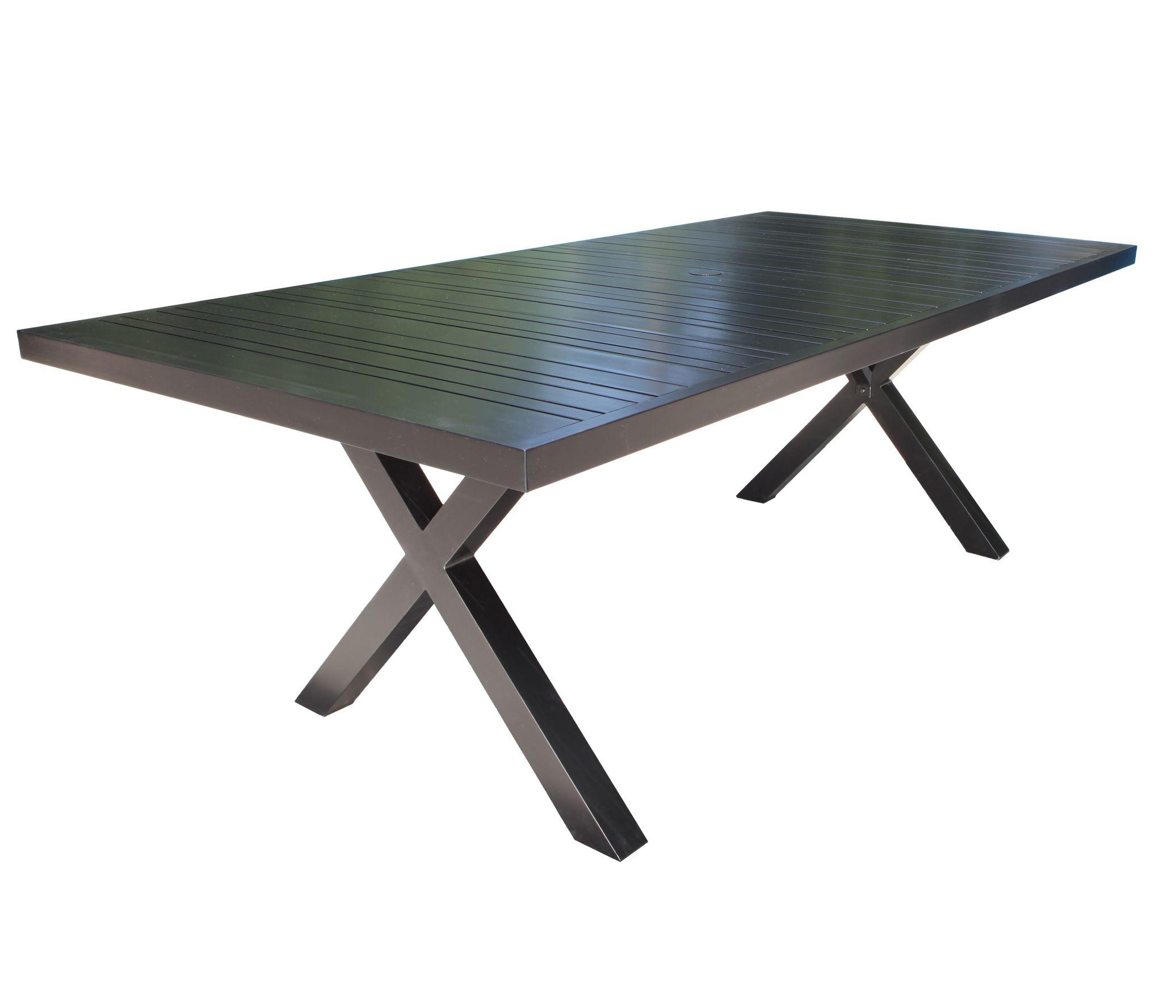 Cast Aluminum Patio Furniture Milano 84 X 42 Dining Table
