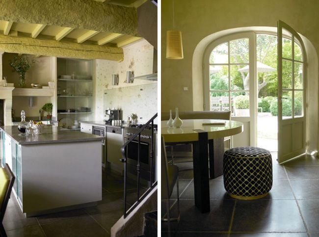 Un petit coin de paradis en provence meilleures id es poutre apparente poutres et cuisines for Poutres peintes