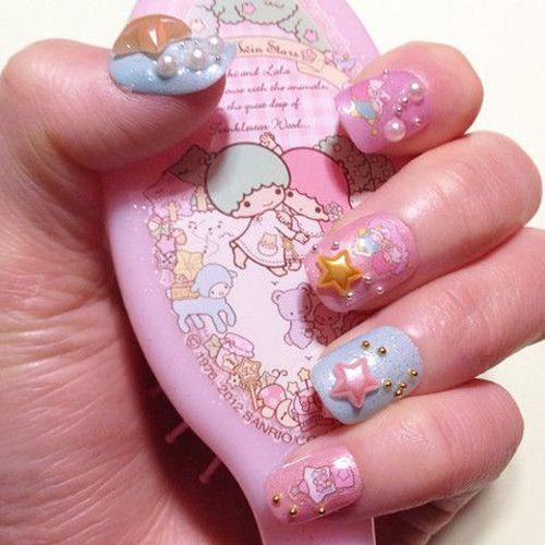 9 Cute Kawaii Nail Art Designs with Pictures | Styles At Life - 9 Cute Kawaii Nail Art Designs With Pictures Pearl Nail Art