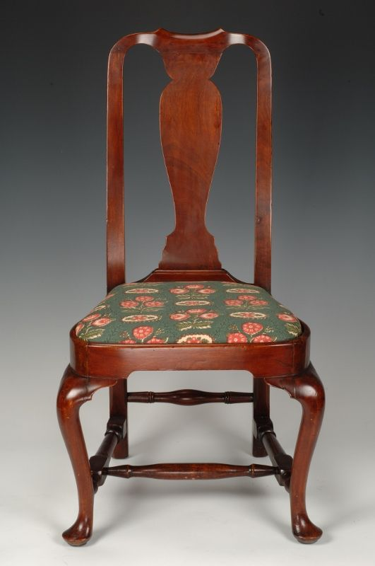 Queen Anne Style Chair, Made In Either Rhode Island Or Boston, MA.