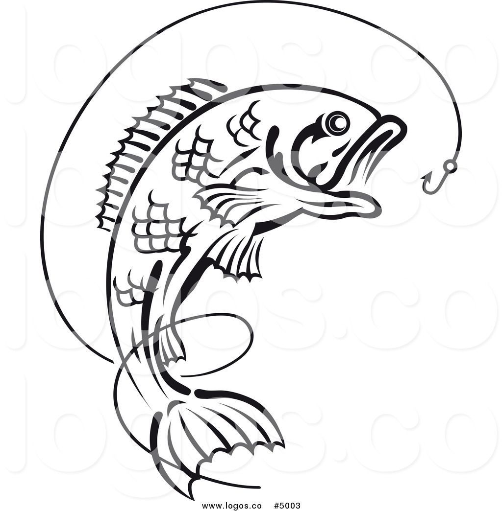 Best Bass Fish Outline 18267 Fish