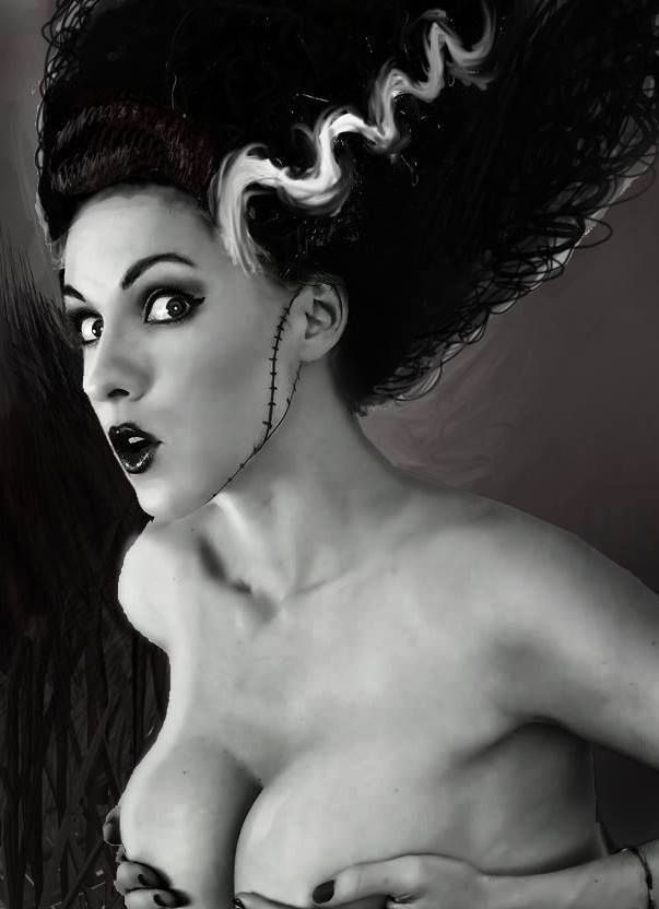 """darkgothicpolyvore: """" Bride of Frankenstein *follow for more Halloween costumes/make up/nail art """""""