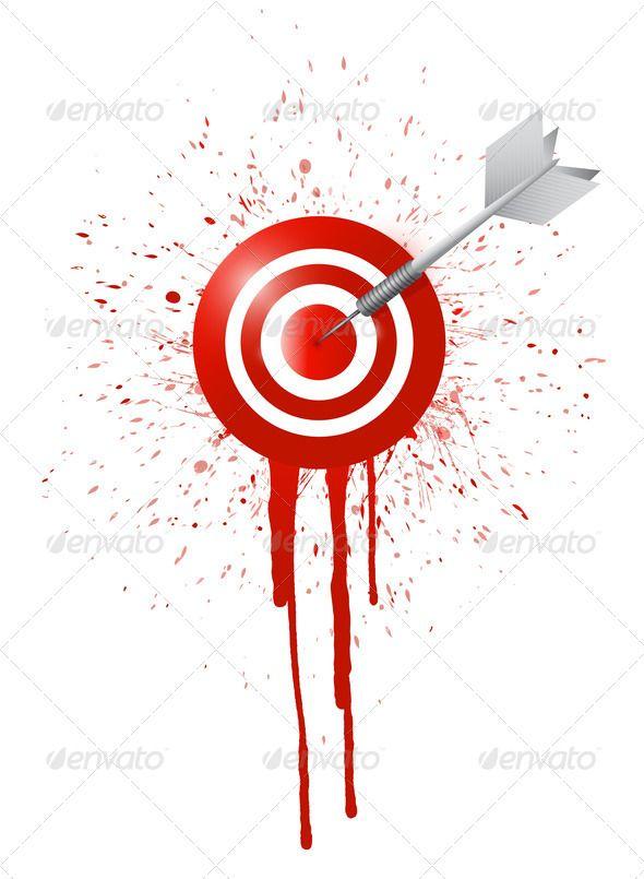 Ink Drop Target Illustration Design Accuracy Achieve N Stock Photo Print Graphic Vectors Templates Themes Website WordPress Ecommerce Logos