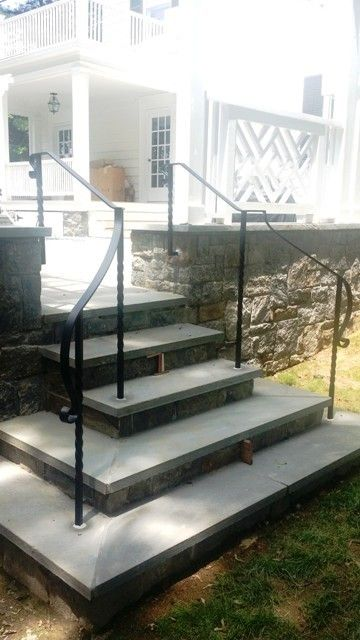 Simple wrought iron handrail beach in 2019 patio - Exterior wrought iron handrails for steps ...