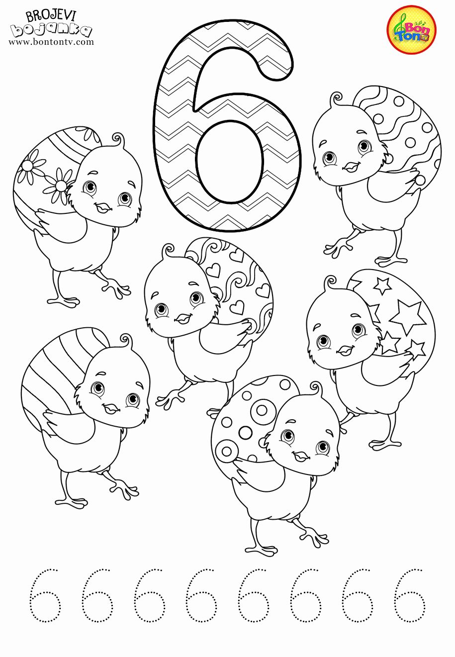 Number Coloring Pages 1 10 Pdf New Free Preschool Printables Easter Number Traci Free Preschool Printables Kids Learning Numbers Color Worksheets For Preschool