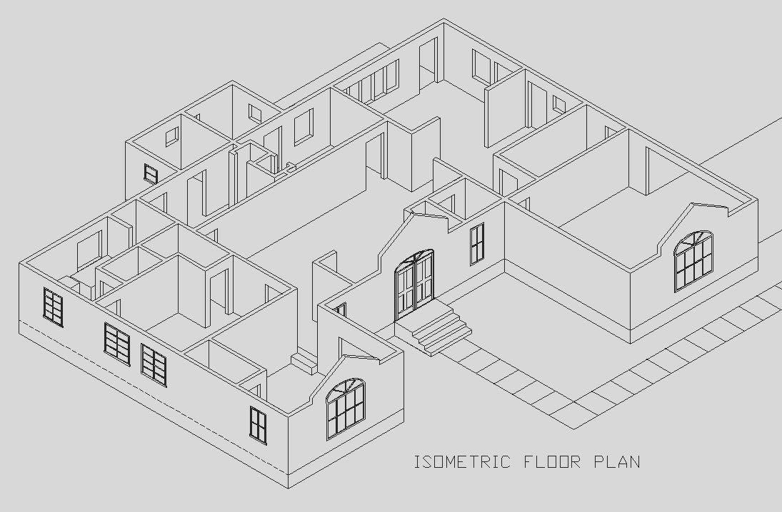 Isometric Floor Plan | ISOMETRIC PLAN | Isometric drawing, Oblique ...