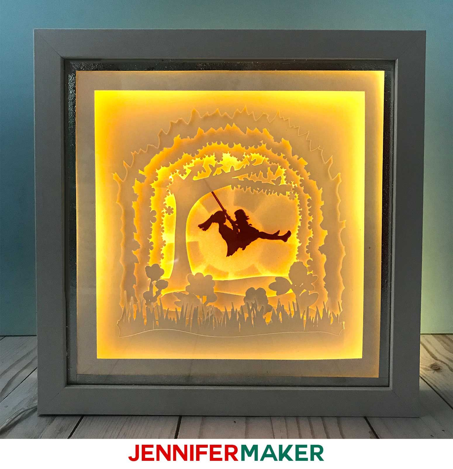 Shadow Box Paper Art Template to Customize Paper art
