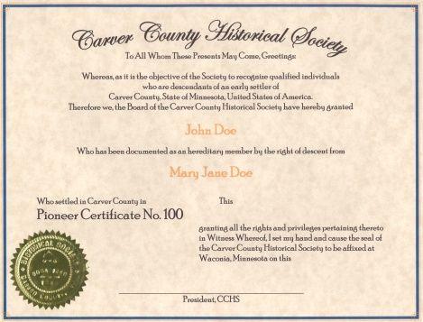 Carver County Historical Society, Carver