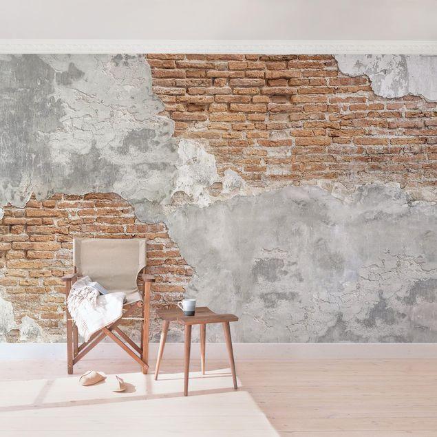 Carta da parati adesiva effetto pietra Muro Di Mattoni