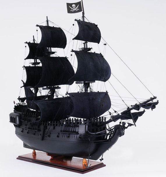 Black Pearl Pirate Ship 35 Wood Scale Model Ship  by HorizonBlue, $599.95