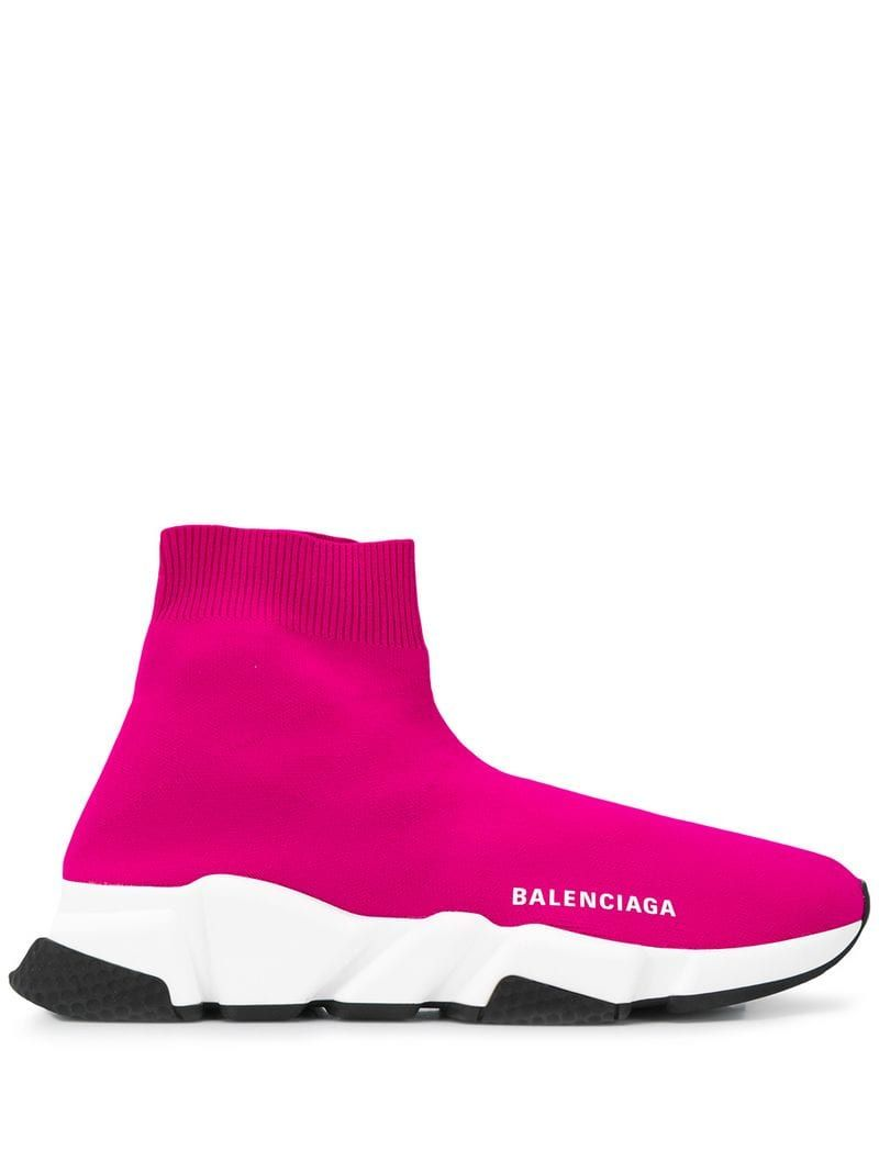 so cheap a few days away new arrival Balenciaga Speed knit sneakers - Pink | Sneakers in 2019 ...