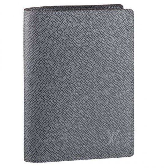 d9042349066 Men Louis Vuitton Taiga Leather Card And Notes Holder Glacier M32615 ...