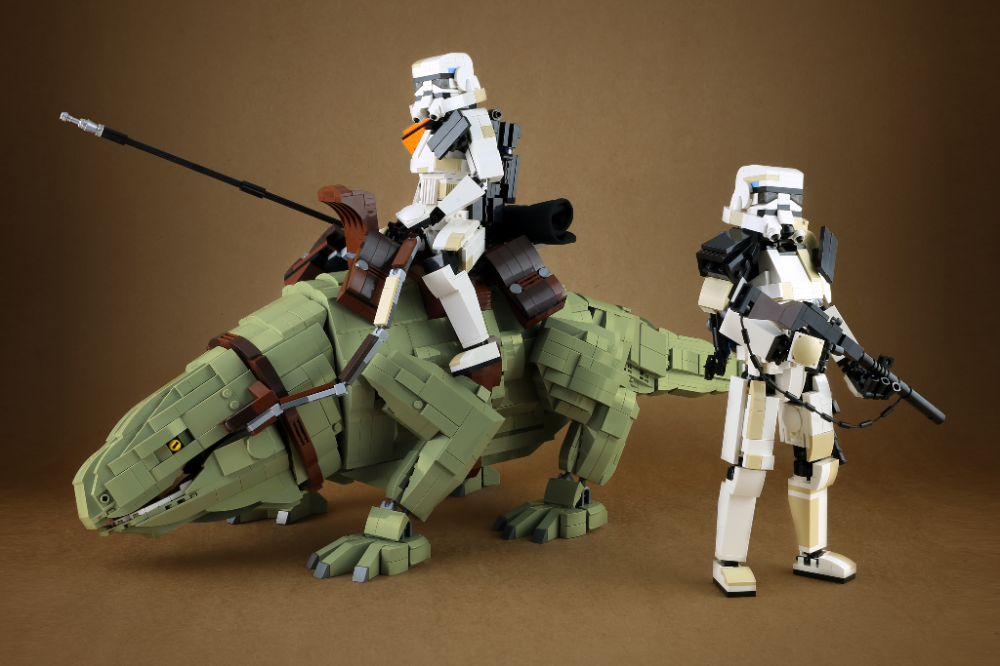Sandtrooper and Dewback in 2020 Lego stormtrooper, Lego