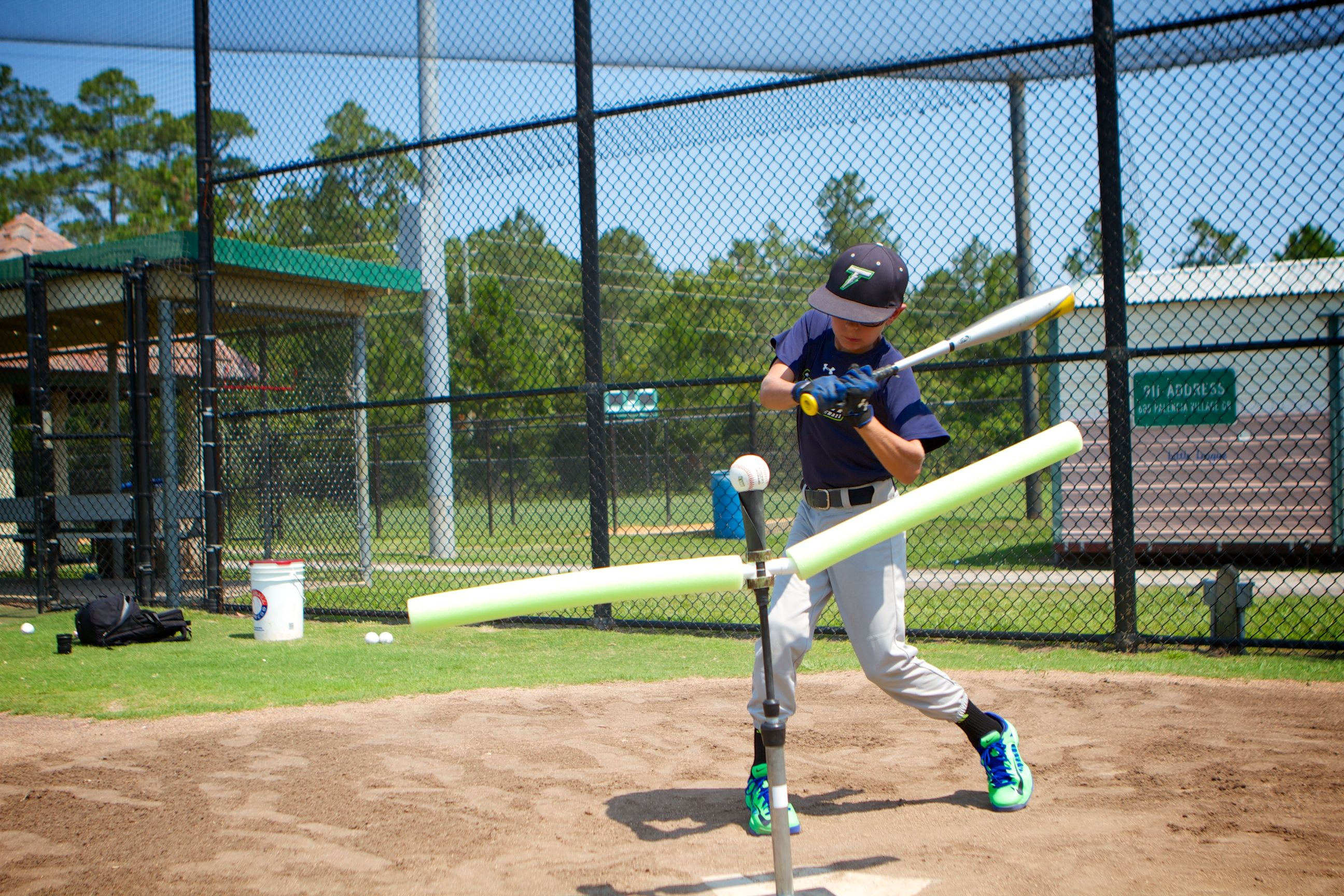 Consistent Contact Keeping The Bat Barrel In The Hitting Zone As Long As Possible Batting Tee Baseball Workouts Baseball Training