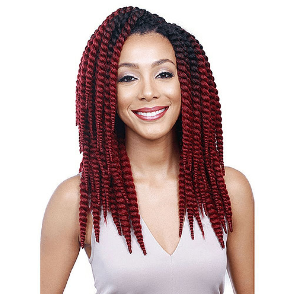 Bobbi Boss Kanekalon Crochet Braid - Senegal Bomba Skinny Twist 12\