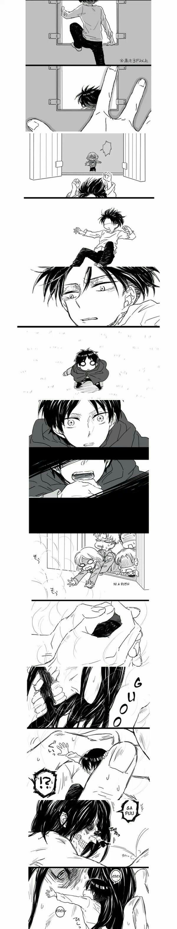 If titans could purr, that's what Eren would be doing when Levi hugged him <<< Awww... This comment is too precious ♥