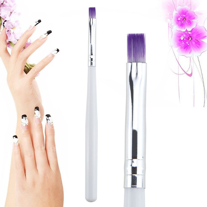 Single 1pc Uv Gel Drawing Painting Brush Pen Nail Art Brush For Manicure Diy Beauty Tool Purple Color Hair With White Nail Art Brushes Art Brushes Gel Nail Art