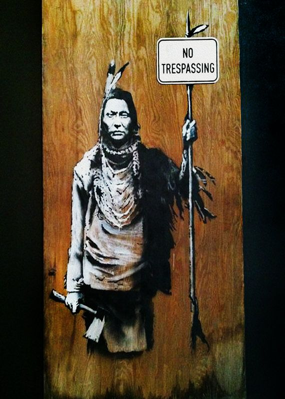 Banksy No Trespassing Indian Street Art By Streetartoncanvas