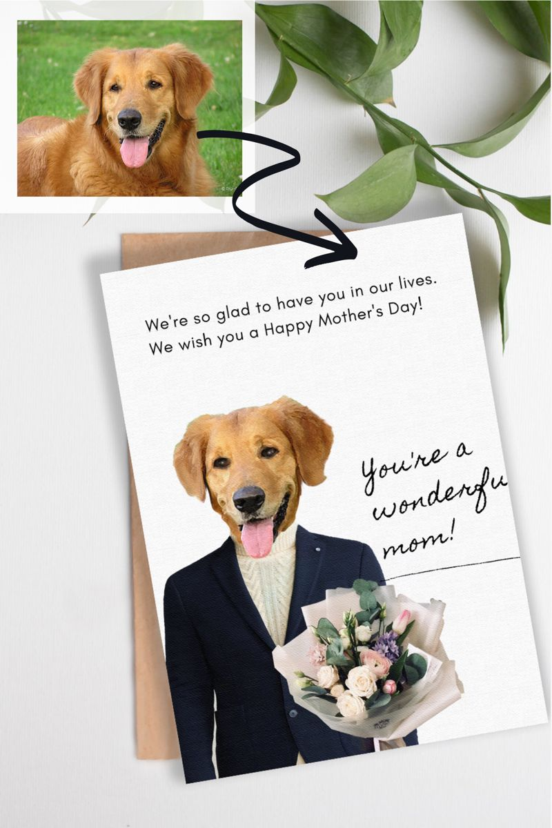 Mother Day Gifts From Dogs Mother Day Cards From Dogs Dog Mothers Day Custom Pet Painting Gifts For Pet Lovers