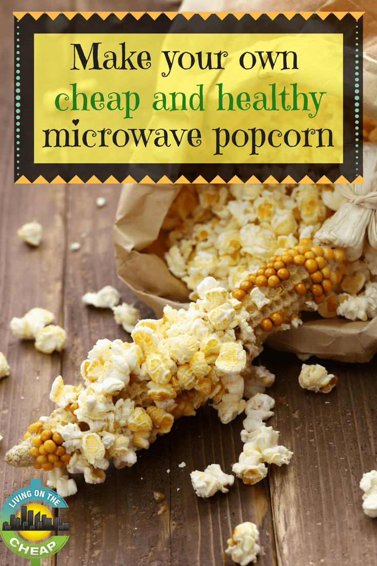 Make your own cheap and healthy microwave popcorn images