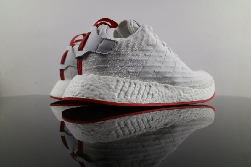 5e83aa67a Best Deal Authentic Adidas NMD R2 White Red BA7253 Real Boost Free DHL  Shipping for Sale 07