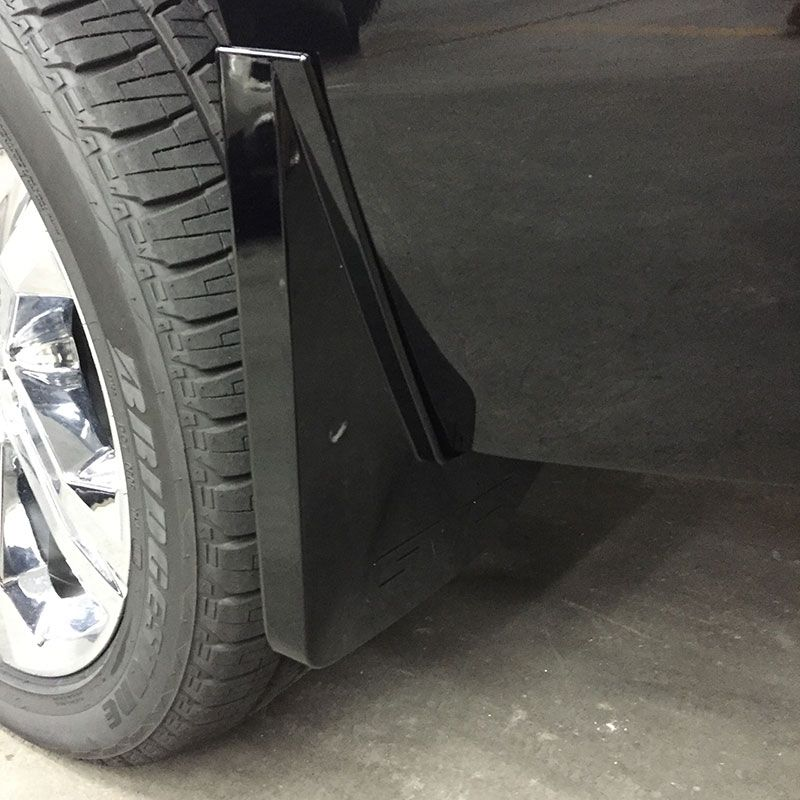 Yukon Splash Guards, Rear Molded, White Diamond: Keep your Yukon clean and avoid tire splash and mud with these guards.