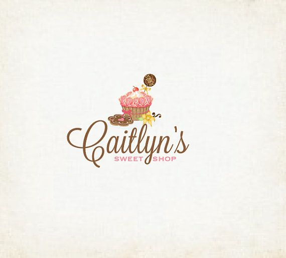sweet shop logo cupcakes bakery cake logo design
