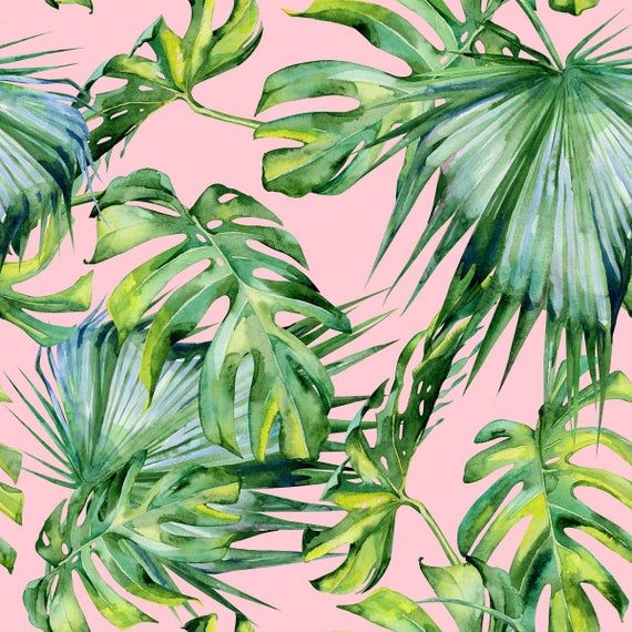 6729# 4 stretch way Newest tropical plant lycra print- Polyester Spandex Matt - Support lycra Custom print - Price Sold By Yard -   18 tropical plants Watercolor ideas