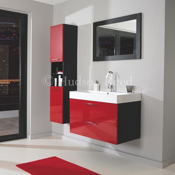 Be Bold With This Striking High Gloss Red And Black Bathroom Furniture Range From Hudson Reed Definitely Not For Wallflowers