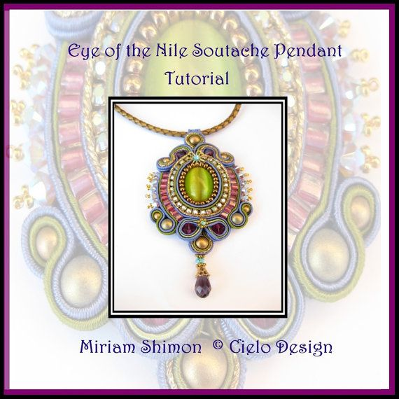Eye of the Nile Soutache Pendant Instruction