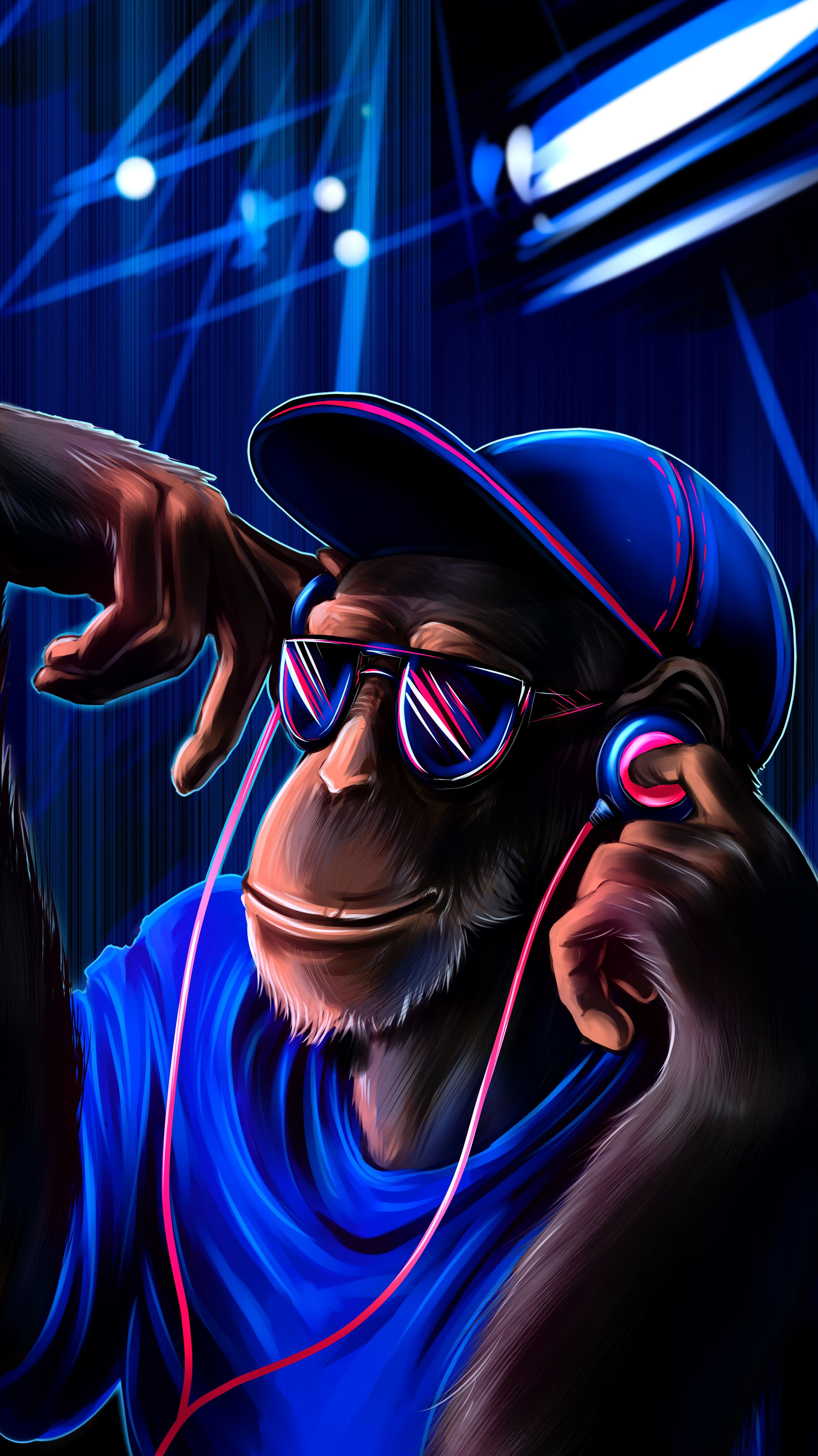 Pin By Wallpapers Phone Pad Hd On 9 16 Phone Crazy Wallpaper Monkey Wallpaper Graffiti Wallpaper Iphone