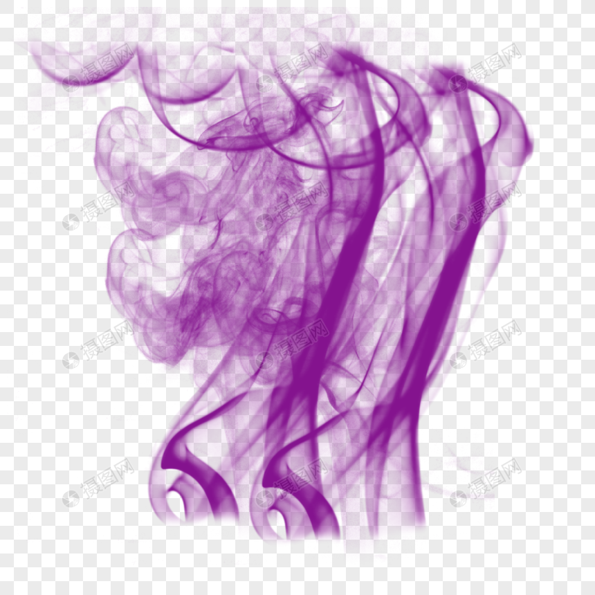 Colorful And Dreamy Flowing Purple Smoke