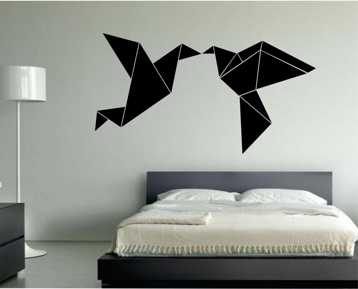 Origami Kissing Love Birds Vinyl Wall Decal Sticker Art Decor ...