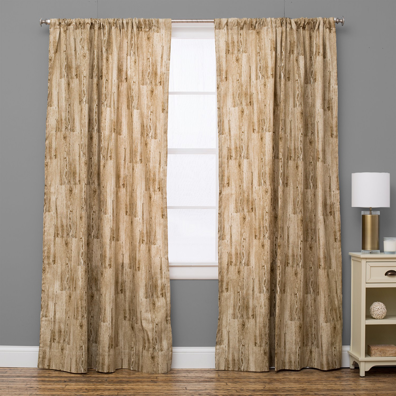 Lodge Rustic Natural Curtain Panel 72 As Is Item 72 Inches 72