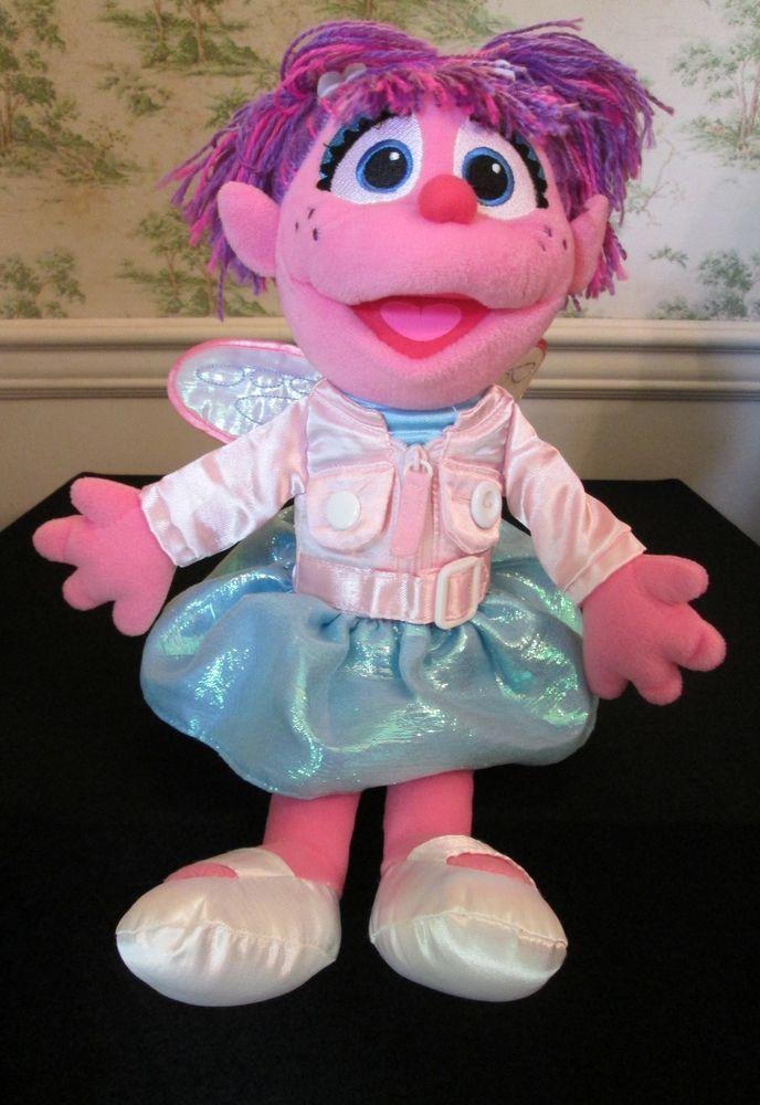 Sesame Street Abby Cadabby Teach Me To Dress Plush 16 Inch