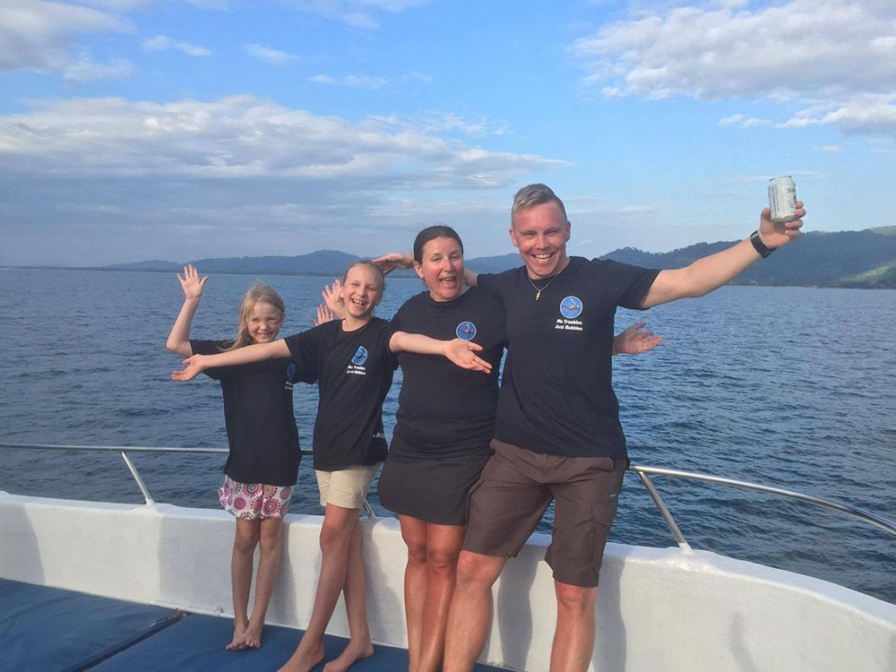 Luoma family MV Oktavia, Similan Islands